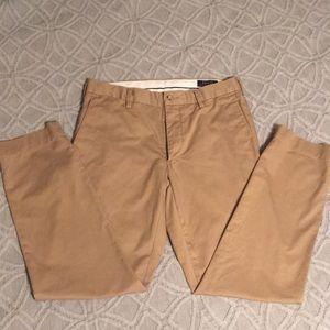 Polo men's slim slacks khaki